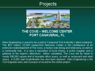 The Cove - Welcome Center - Port Canaveral, FL