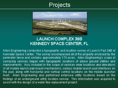 Lauch Complex 39B - Kennedy Space Center, FL