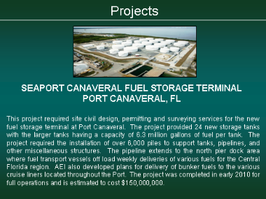 Seaport Canaveral Fuel Storage Tank Farm - Port Canaveral, FL