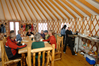 Sunday brunches at the yurt are fun for skiers and snowshoers of all abilities.