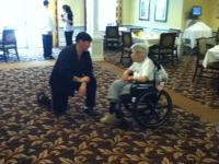 Chef Eric discusses Menu with Resident