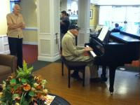 Playing Piano in Lobby