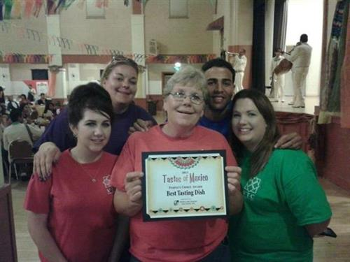 First Place for Best Food at the Taste of Mexico 2013