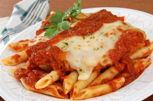 Custom Catering's Famous Chicken Parmesan