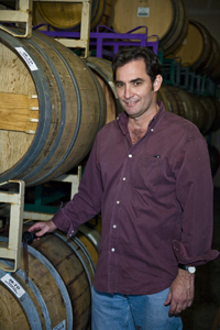 Mike Lewellen in the winery