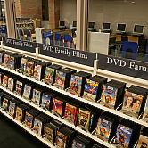 Shelves Packed with DVDs for All