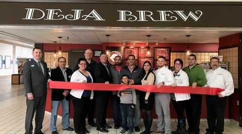 Ribbon Cutting at Deja Brew