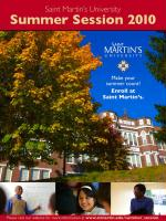 Summer Session program design for Saint Martin's University