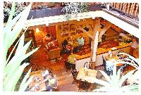A view of our main floor dining room from above