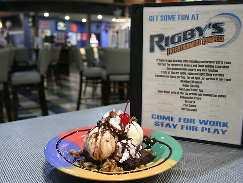 Check out our amazing dessert menu that includes brownie sundaes