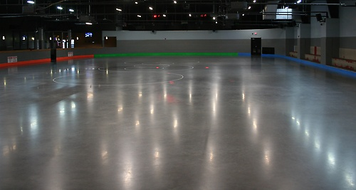 Top of the line skate floor with custom lighting