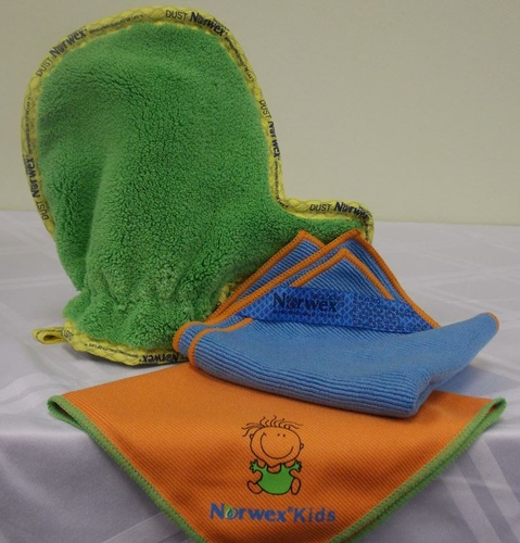 Get the little ones involved in keeping your house clean with the Kids EnviroCloth, Dust Mitt and Window Cloth