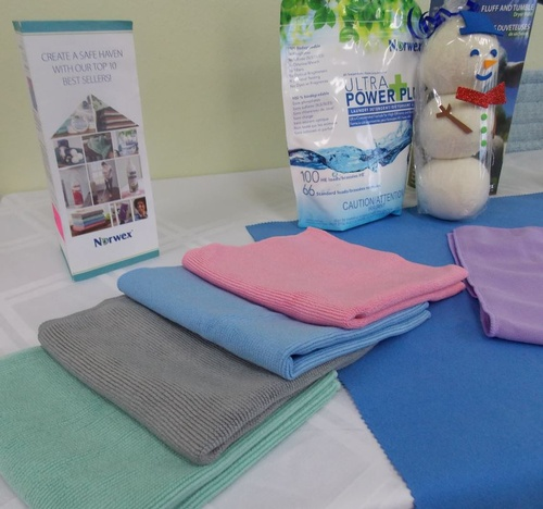 Norwex offers cloths and towels in a variety of colors to match your decor.