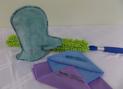 The Household Package Plus includes the Dusting Mitt, Window Cloth, EnviroCloth and the EnvirWand for those hard to reach areas.