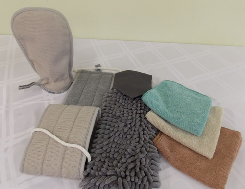 Chenille Hand Towel, Back Scrubber, Body Scrub Mitt and Cloths are just what you need