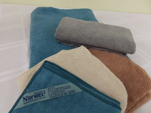 Hand towels, Cloths and Bath towels are highly absorbent and fast drying.