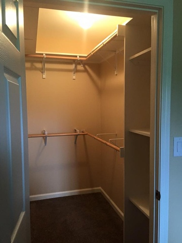 Plenty of room in this closet now!