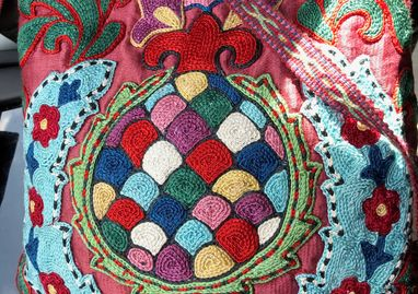 Embroidered purse, Uzbekistan.