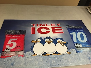 Tinley Ice pvc signs