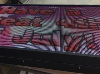 Digital outdoor LED message boards