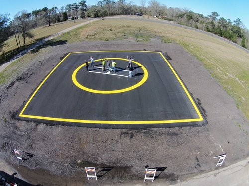 Killian Helipad completed paint. Photo Courtesy Killian Police Department