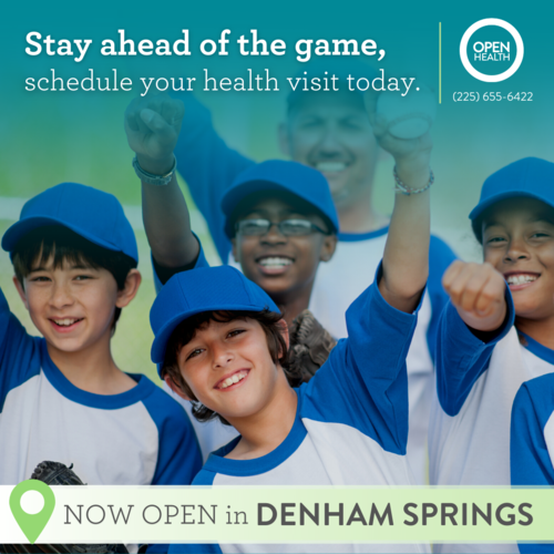 Now open in Denham Springs!