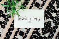 lewis + ivey salon