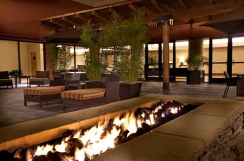 Firepit Courtyard at Night