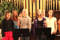 Some of the youth share their music on Sunday morning