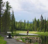18 hole Priest Lake Golf Course - leave the family at the beach
