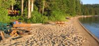 Long Sandy Beachs surround Priest Lake