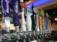 A large selection of crafted  beers on tap