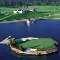 Coeur d'Alene Resort Golf Course - Floating Green