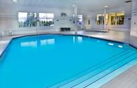 Our indoor pool and spa are so relaxing