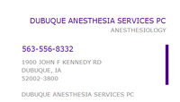 DUBUQUE ANESTHESIA SERVICES
