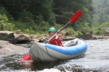 Cheat Narrows in the Inflatable Kayaks