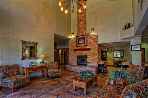 Hotel Lobby with fireplace
