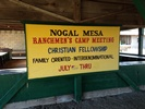 NOGAL MESA RANCHMEN'S CAMP MEETING