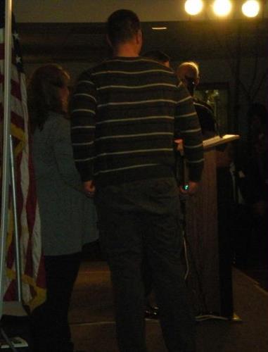 Joe Protz receiving Community Service Award