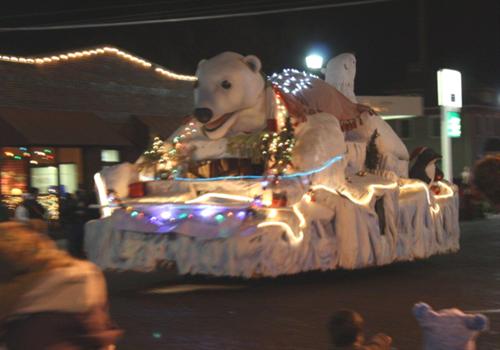 Polar Bear Float in Christmas Parade