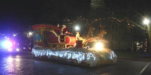 Santa Claus Float in Christmas Parade
