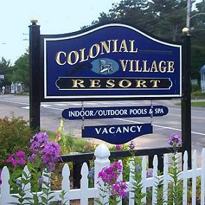 Colonial Village sign