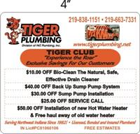 Become a Tiger Club Member after using Tiger Plumbing once! Members have additional savings!