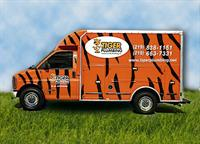 Spot our Tiger Plumbing trucks? Licensed Plumbers inside!