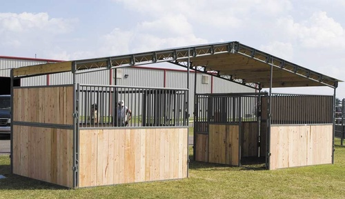Add a WW Truss System at any time without any additional adapters and turn your stalls into a beautiful barn with a breezeway or a functional Shed Row Barn.