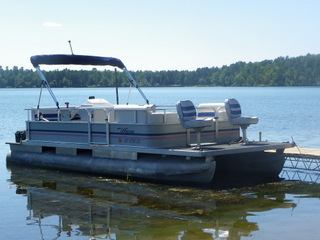 Pontoon Boat Waiting for the Next Guest