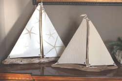 By the Bay Creations, exclusive Ophiuroidea sail boats