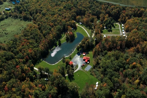 Aerial view of Little Lake Campground