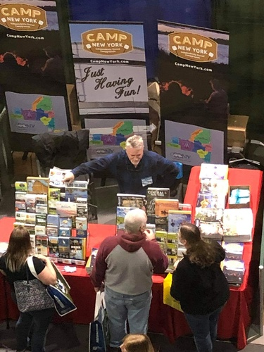 Promoting camping at RV shows (photo by Sandy Papp)