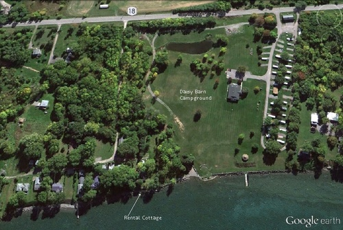 Aerial Photo of Daisy Barn Campground